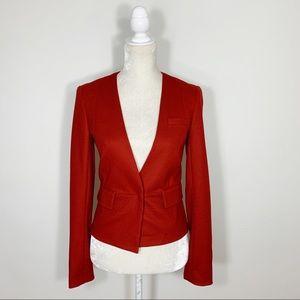 Diane Von Furstenberg • red wool blazer